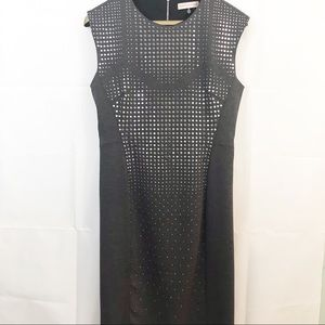 Rebecca Taylor Sheath Dress Embellished Front